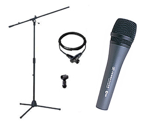 Sennheiser ePACK835 With e835 Microphone, MZQ800 Mic Clip, SEMS3000 Boom Mic Stand and CSM25 cable