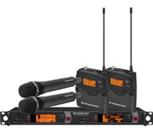 Sennheiser 2000C2-205BK Dual Channel Microphone Contractor System System with the 205BK Capsules 2000C2-205BK-B