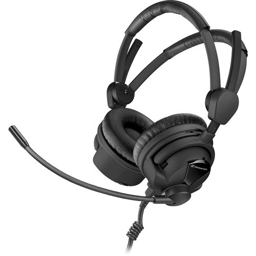 "Sennheiser HME26-II-600-X3K1 Double-Sided Broadcast Headset with Omnidirectional Mic & XLR-3, 1/4"" Cable"