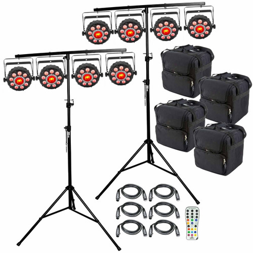 (8) Chauvet DJ FXpar 9 Compact Multi Effect Par Lights Package