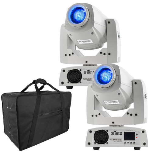 (2) Chauvet DJ Intimidator Spot 255 IRC Moving Heads (white) & Carry Bag Package
