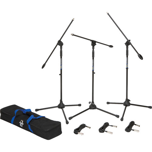 Samson BL3VP Boom Stand & Cable (3-Pack) Side View