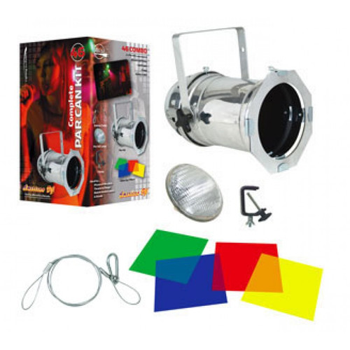 46 Combo Aluminum Par Can Package From American DJ - Multi-Color Light Kit