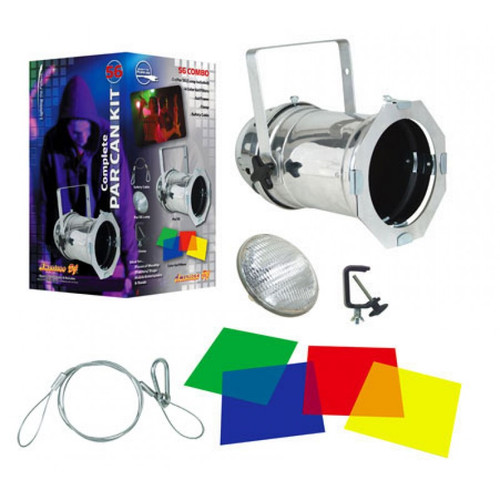 56 Combo Aluminum Par Can Package From American DJ - Multi-Color Light Kit
