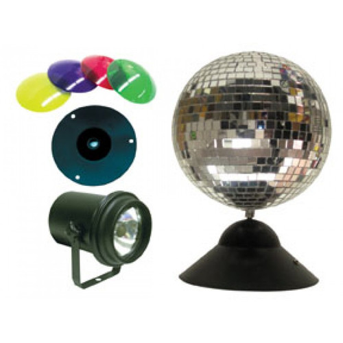 American DJ ADJ MB-8 Combo Instant Mirror Ball Package - Many Exciting Items Included