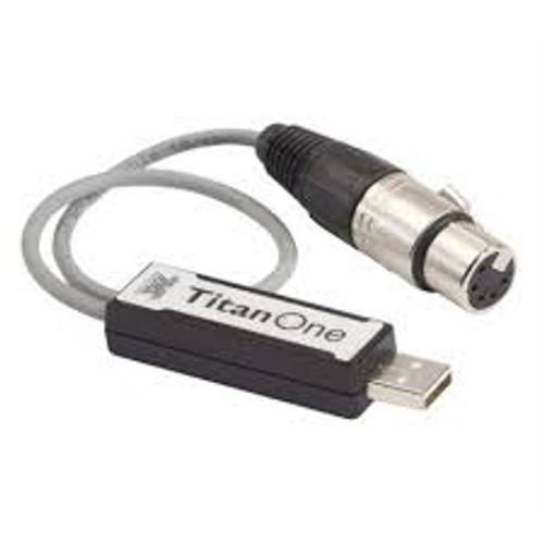 Avolites Titan One USB Interface Side View.