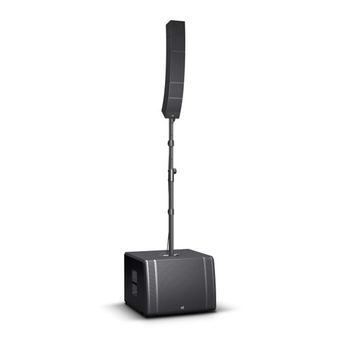 """LD Systems Portable Touring Array System - 2000W Peak, 131 dB SPL, (25 premium transducers, 15"""" Subwoofer and WaveAhead® technology) (LDS-CURV500TS)"""