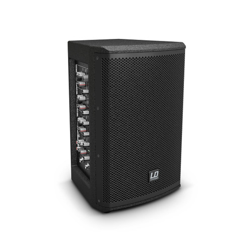 "LD Systems Powered 2-Way PA Speaker with Integrated 4 Ch Mixer - 2 x 280W Peak / 6.5"" + 1"" HF (LDS-MIX6AG3)"