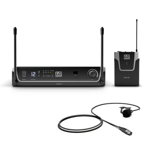LD Systems Wireless Microphone System with Belt Pack and Lavalier Microphone (LDS-U305BPL)
