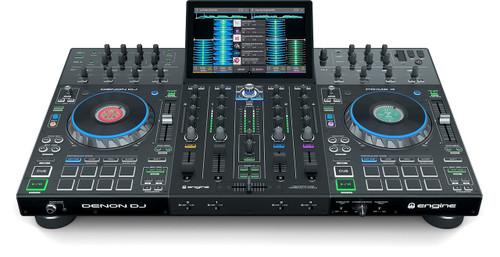 Denon DJ PRIME4XUS Prime 4  4-Deck Standalone DJ System with 10-inch Touchcreen