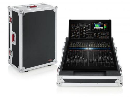 "Gator Cases G-TOURM32RNDH Non-Doghouse Mixer Case for Midas M32R. Includes tilt & go wheels, plus 4"" storage behind mixer. Shallow base allows mixer use while in case."