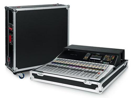 "Gator Cases G-TOURYAMTF5NDH Non-Doghouse Mixer Case for Yamaha TF5. Includes tilt & go wheels, plus 4"" storage behind mixer. Shallow base allows mixer use while in case."