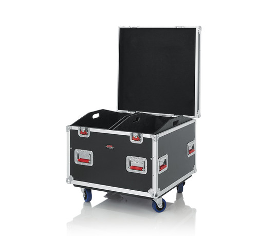 """Gator Cases G-TOURTRK303012 Truck Pack Utility ATA Flight Case; 30"""" x 30"""" x 27"""" Exterior Before Casters; 12mm Wood Construction, Dividers and Lift-Out Trays"""