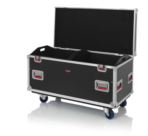 """Gator Cases G-TOURTRK452212 Truck Pack Utility ATA Flight Case; 45"""" x 22"""" x 27"""" Exterior Before Casters; 12mm Wood Construction, Dividers and Lift-Out Trays"""