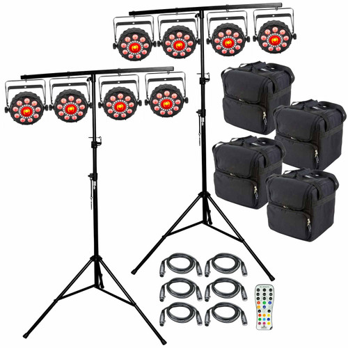 Chauvet DJ Lighting Package PKG-CH-088 - (8) FXpar 9 Compact Multi Effect Par Lights Package