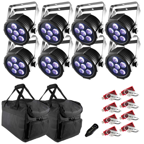 Chauvet DJ Lighting Package PKG-CH-090 - (4) SlimPAR H6 USB Low-profile RGBAW+UV LED Pars Package
