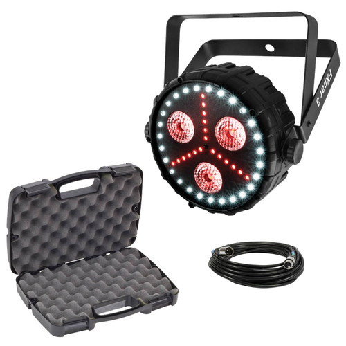 "Chauvet DJ Lighting Package PKG-CH-205 - FXpar 3 Compact Effect Par Light with Heavy Duty 13"" Storage Case Package"