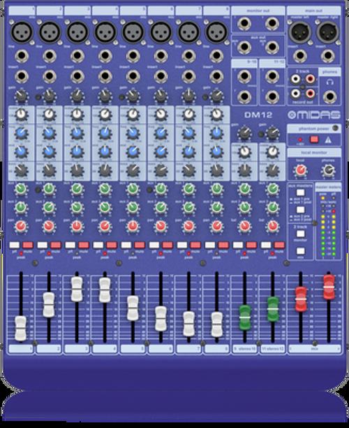 Midas MR12 - Midas 12-Input Digital Mixer for iPad/Android