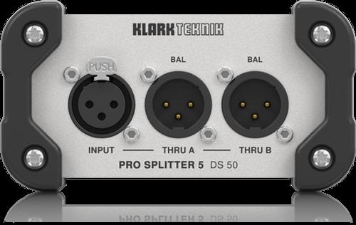 Klark Teknik DS 50 - Passive 1-In / 5-Out Signal Splitter with Extended Dynamic Range