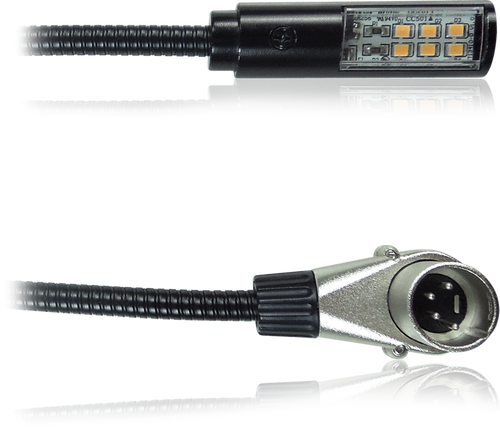 Klark Teknik LEDLAMP18-RA - LED Lamp with 18'' Gooseneck Shaft and Rotatable Right-Angled 4 Pin XLR Connector