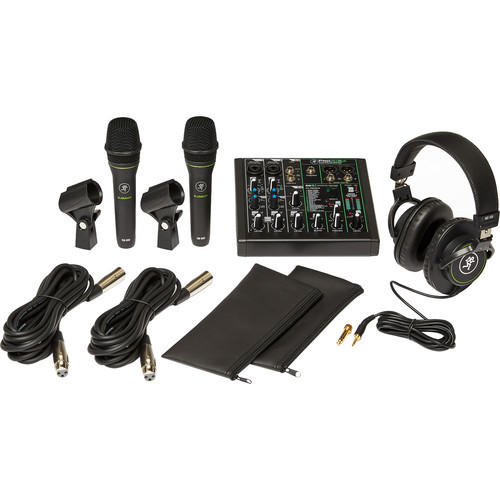 Mackie Performance bundle with ProFX6v3 effects mixer with USB, two EM-89D dynamic mics and MC-100 headphones
