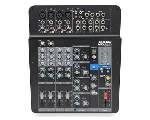 Samson MixPad MXP124FX - Compact, 12-Input Analog Stereo Mixer with Effects and USB