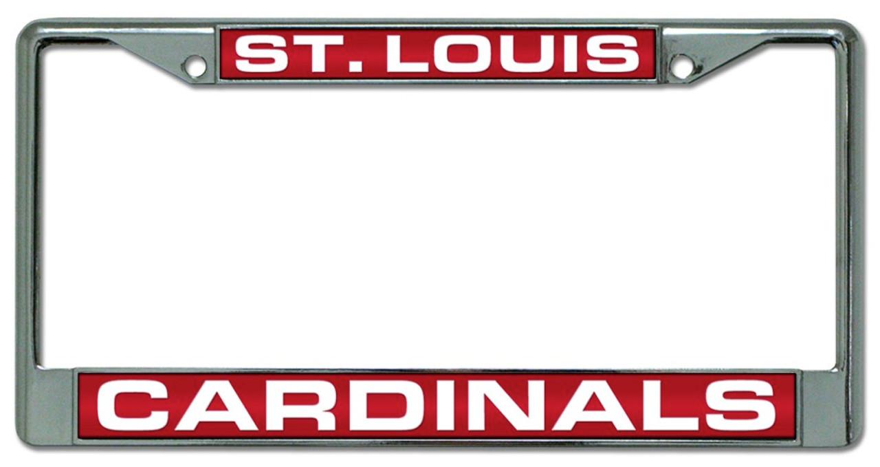 St. Louis Cardinals Laser Cut Chrome License Plate Frame - Avery ...