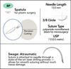 7-0 Sterile Micro Suture, 13mm, 3/8 Circle, Spatula Precision Cutting Needle | AROSuture™ BP13A07N-45