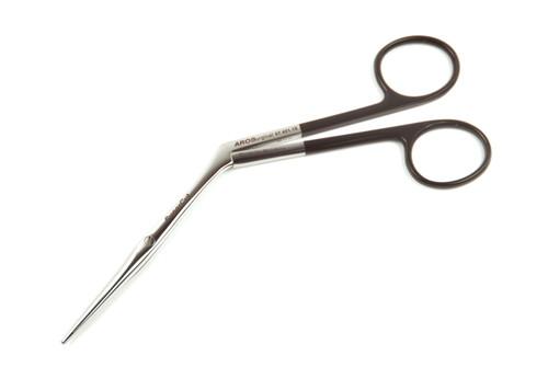 07.401.18: Heymann Nasal Scissors, Black Handles, 18cm, 7 inches, Supercut CVD tips