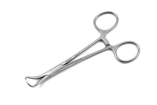 14.111.13: BACKHAUS Towel Forceps, Standard, 13cm, 5 inches, CVD tips