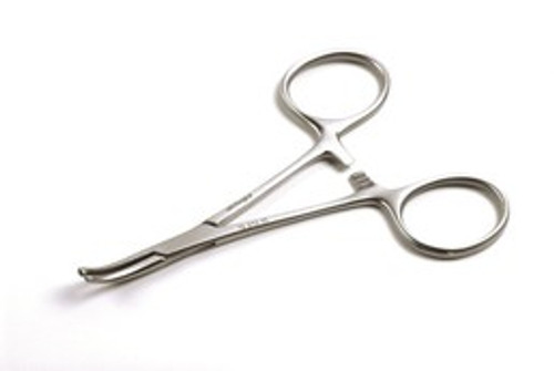 12.213.10: HARTMANN Artery Forceps, Standard, 10cm,  4 inches, 1x2 teeth, CVD tips