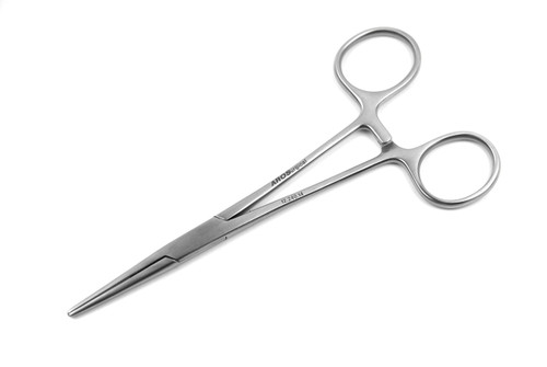 12.240.14: KELLY Hemostatic Forceps, Standard, 14cm, 5.5 inches, STR tips