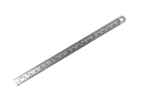 "Steel Surgical Ruler, 8"" (20cm) 