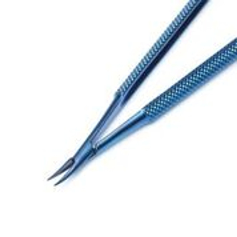 11.549.15T: Micro Spring Handle Needle Holder, Titanium, 15cm, 6 inches, CVD tips w/o catch