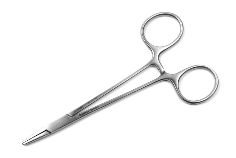 "Halsey Needle Holder, 5"" (13cm), STR Tips w/ Serrated Jaws | AROSmicro™ 24.140.13"
