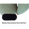 Memory Foam Armrest Cover Top View