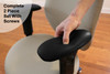 Ultra-Soft Ergo360 Memory Foam Chair Armrest Arm Pads Complete 2 Piece Set With Screws