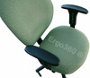 Sunset Chair Armrest Arm Pads Replacement Set Installed On Office Chair