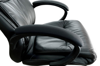 """Ergo360 Armrest Covers Installed Over Example 17"""" Chair Armrests Looking and Feeling Better Than New! Priced and Sold as Complete Pairs of Armrest Covers."""
