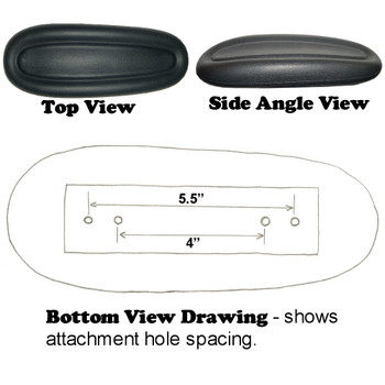 Bottom Dimensions Of Centric Office Chair Arm Pads