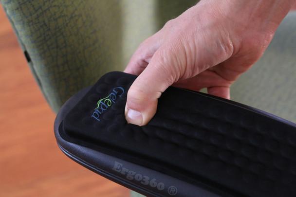 "Gel Armrest Pads Genuine Press Test Into 1/2"" Thick Gel Cushion"