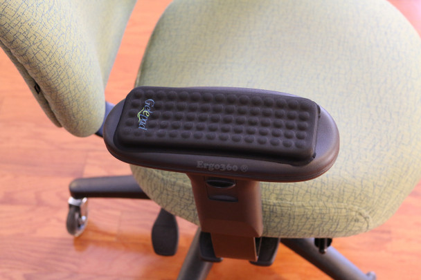 Gel Armrest Pads On Top Of Office Chair Arm Pads