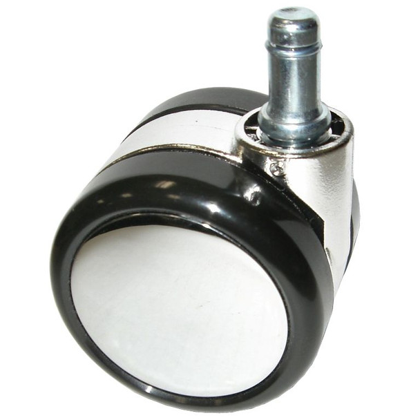 Large Chrome Chair Caster Wheels With Soft Treads For Hardwood, Tile, Linoleum, etc.