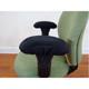 Bulk Quantity Memory Foam Chair Armrest Covers Installed