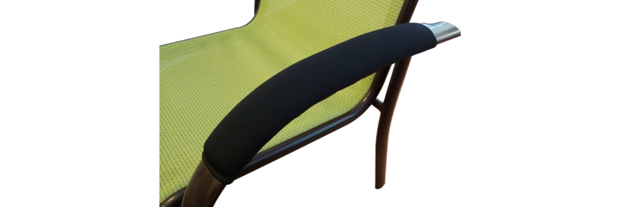 Ergo360 Soft Neoprene Armrest Covers For Railing And Loop Style Chair Armrests. Complete Set of 2.