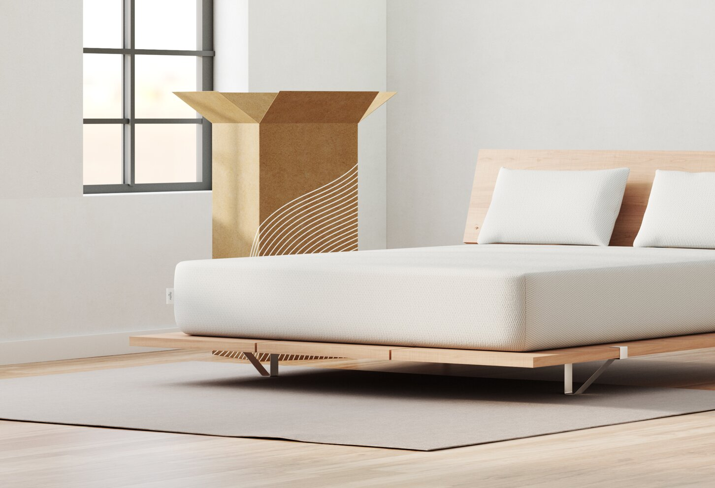 Vaya mattress lifestyle side corner view