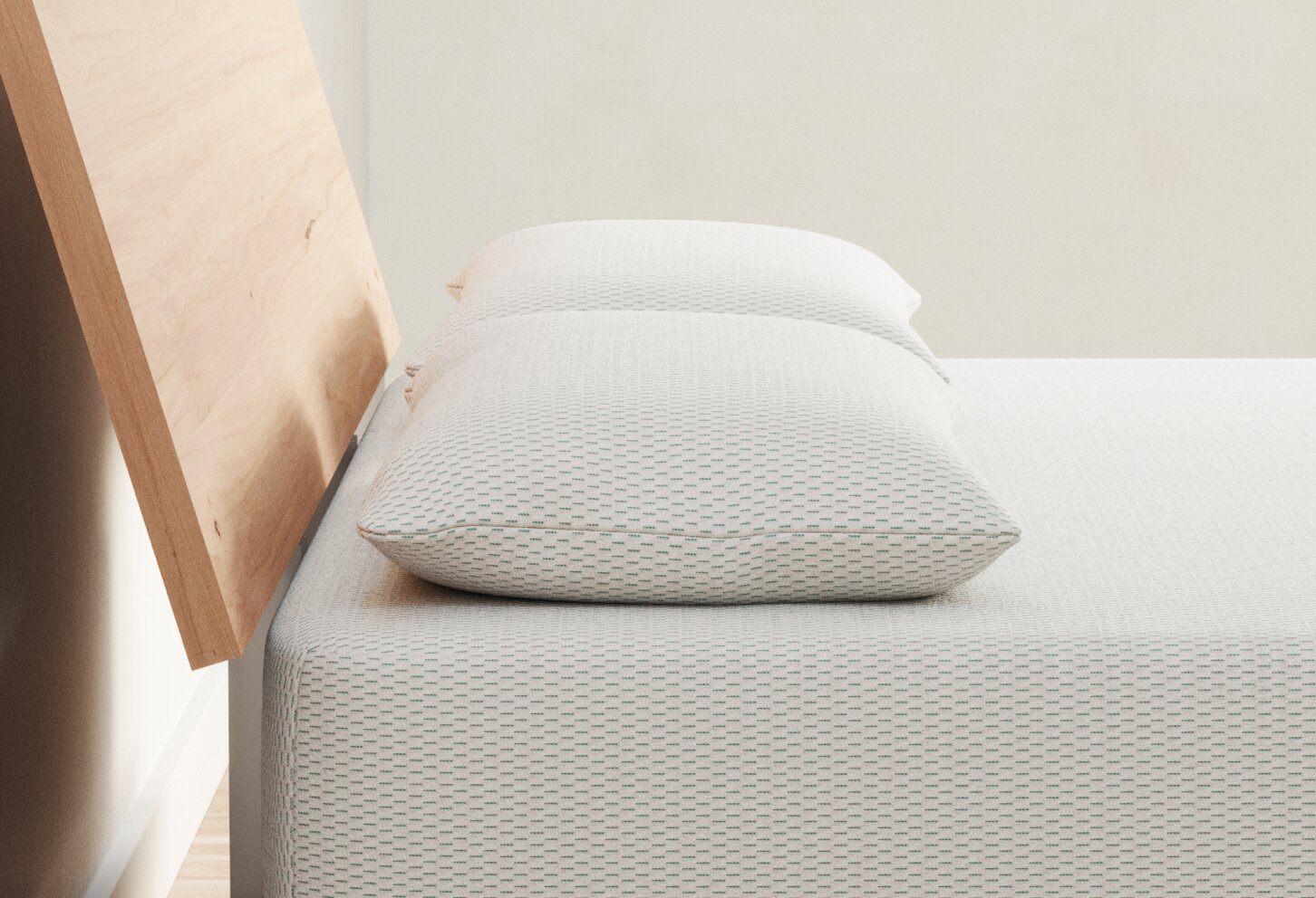 Vaya pillow bed-side view