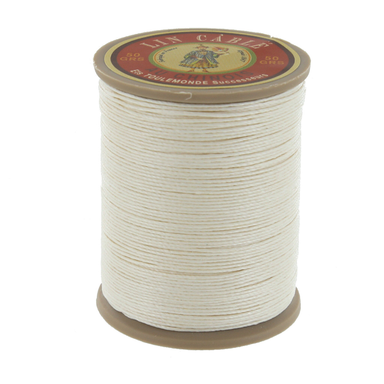 Natural Waxed Linen 10 Yard Spool Natural