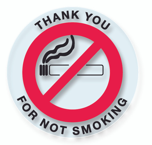 No Smoking Stickers Clear