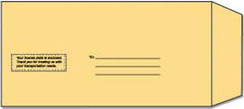 License Plate Mailing Envelope - Imprinted - 500/package
